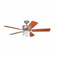 Kichler 300001NI Chicago Brushed Nickel Finish 52 Inch Ceiling Fan