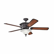 Kichler 300006DBK Wilton Distressed Black Finish 54 Inch Ceiling Fan