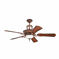 Kichler 300008MDW Kimberley Mediterranean Walnut Finish 60 Inch Home Ceiling Fan