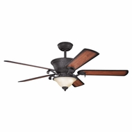 Kichler 300010DBK High Country Distressed Black Finish 56 Inch Ceiling Fan