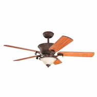 Kichler 300010TZG High Country Tannery Bronze w/ Gold Accent Finish 56 Inch Home Ceiling Fan