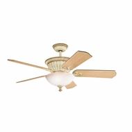 Kichler 300012AW Larissa Aged White Finish 52 Inch Ceiling Fan