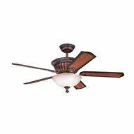 Kichler 300012MDW Larissa Mediterranean Walnut Finish 52 Inch Home Ceiling Fan
