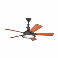 Kichler 300018DBK Hatteras Bay Distressed Black Finish 56 Inch Ceiling Fan