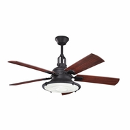Kichler 300020DBK Harbour Walk Patio Distressed Black Finish 52 Inch Home Ceiling Fan
