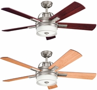 Kichler 300024AP Lacey II Antique Pewter Weathered White / Dark Cherry 52 Ceiling Fan
