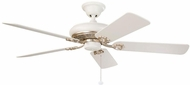 Kichler 300118SWG Bentzen Satin Natural White with Gold 52 Inch Home Ceiling Fan