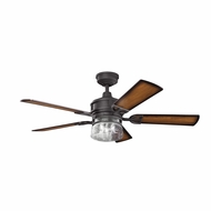 Kichler 300120DBK Lyndon Distressed Black Finish 52 Inch Ceiling Fan
