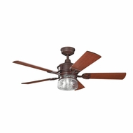Kichler 300120TZ Lyndon Tannery Bronze Finish 52 Inch Ceiling Fan