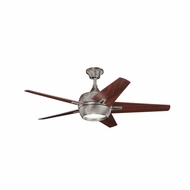 Kichler 300137BAP Makoda Burnished Antique Pewter Finish 52 Inch Home Ceiling Fan