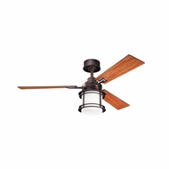 Kichler 300157OBB Pacific Edge Oil Brushed Bronze Finish 52 Inch Home Ceiling Fan