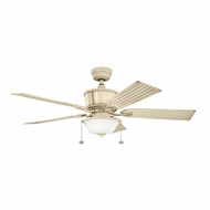 Kichler 300162AW Cates Aged White Finish Indoor / Outdoor 52 Inch Ceiling Fan