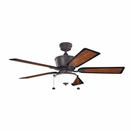 Kichler 300162DBK Cates Distressed Black Finish Indoor / Outdoor 52 Inch Home Ceiling Fan