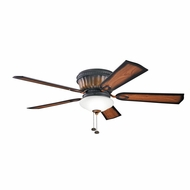 Kichler 300172MDW Dorset Mediterranean Walnut Finish 52 Inch Ceiling Fan