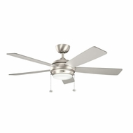 Kichler 300173NI Starkk Brushed Nickel Finish 52 Inch Ceiling Fan