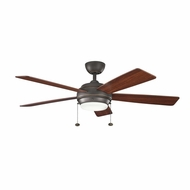 Kichler 300173OZ Starkk Olde Bronze Finish 52 Inch Home Ceiling Fan