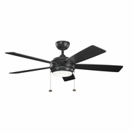 Kichler 300173SBK Starkk Satin Black Finish 52 Inch Home Ceiling Fan