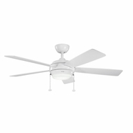 Kichler 300173WH Starkk White Finish 52 Inch Ceiling Fan