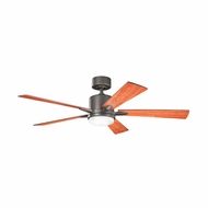 Kichler 300176OZ Lucian Olde Bronze Finish 52 Inch Home Ceiling Fan