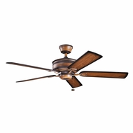 Kichler 300178MDW Duval Mediterranean Walnut Finish 52 Inch Ceiling Fan