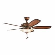 Kichler 300179MDW Rokr Mediterranean Walnut Finish 52 Inch Ceiling Fan