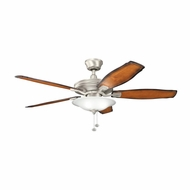 Kichler 300179NI Rokr Brushed Nickel Finish 52 Inch Home Ceiling Fan