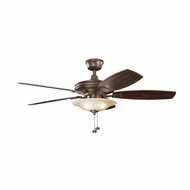 Kichler 300179TZ Rokr Tannery Bronze Finish 52 Inch Home Ceiling Fan