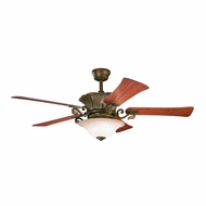 Kichler 300207CZ Rochelle Carre Bronze Finish 56 Inch Home Ceiling Fan