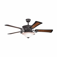 Kichler 300207DBK Rochelle Distressed Black Finish 56 Inch Ceiling Fan