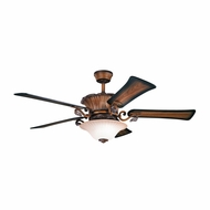 Kichler 300207MDW Rochelle Mediterranean Walnut Finish 56 Inch Home Ceiling Fan