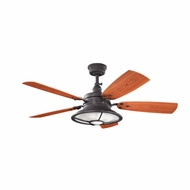 Kichler 310102DBK Harbour Walk Patio Distressed Black Finish Indoor / Outdoor 52 Inch Home Ceiling Fan
