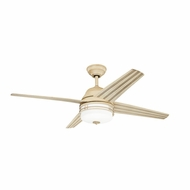 Kichler 310110AW Porters Lake Aged White Finish Indoor / Outdoor 54 Inch Home Ceiling Fan