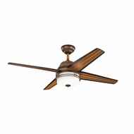 Kichler 310110MDW Porters Lake Mediterranean Walnut Finish Indoor / Outdoor 54 Inch Ceiling Fan