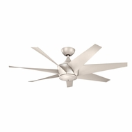 Kichler 310112ANS Lehr II Antique Satin Silver Finish Indoor / Outdoor 54 Inch Home Ceiling Fan