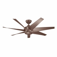 Kichler 310112CMO Lehr II Coffee Mocha Finish Indoor / Outdoor 54 Inch Ceiling Fan