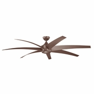 Kichler 310115CMO Lehr Contemporary Coffee Mocha Finish Indoor / Outdoor 80 Inch Ceiling Fan