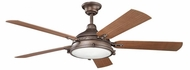 Kichler 310117WCP Hatteras Bay Patio Weathered Copper Powder Coat 60 Inch Home Ceiling Fan