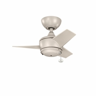Kichler 310124ANS Yur Antique Satin Silver Finish Indoor / Outdoor 24 Inch Home Ceiling Fan
