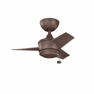 Kichler 310124CMO Yur Coffee Mocha Finish Indoor / Outdoor 24 Inch Ceiling Fan