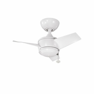 Kichler 310124WH Yur White Finish Indoor / Outdoor 24 Inch Ceiling Fan