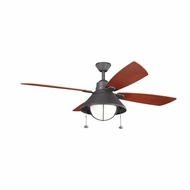 Kichler 310131DBK Seaside Distressed Black Finish Indoor / Outdoor 54 Inch Ceiling Fan