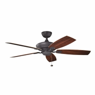 Kichler 310192DBK Canfield Patio Distressed Black Finish Indoor / Outdoor 52 Inch Home Ceiling Fan