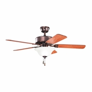 Kichler 330103OBB Renew Select ES Oil Brushed Bronze Finish 50 Inch Home Ceiling Fan