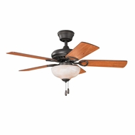 Kichler 337014OZ Sutter Place Select Olde Bronze Finish 42 Inch Home Ceiling Fan