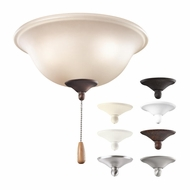 Kichler 338508MUL Bowl 3 Light Ceiling Fan Light Fixture