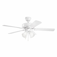 Kichler 339240WH Renew Premier White Finish 50 Inch Ceiling Fan