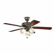 Kichler 339400OZ Sutter Place Premier Olde Bronze Finish 52 Inch Home Ceiling Fan