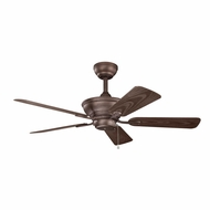Kichler 339524WCP Trent Weathered Copper Powder Coat Finish Indoor / Outdoor 44 Inch Home Ceiling Fan