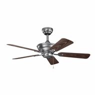 Kichler 339524WSP Trent Weathered Steel Powder Coat Finish Indoor / Outdoor 44 Inch Home Ceiling Fan