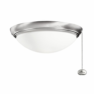 Kichler 380020BSS Brushed Stainless Steel Finish Indoor / Outdoor Ceiling Fan Light Fixture
